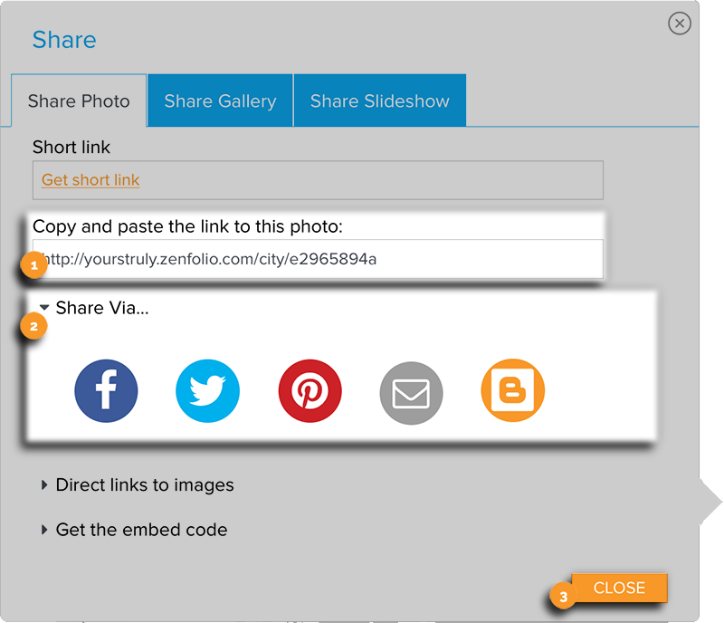 Share Panel Links and Share Via New Edit View