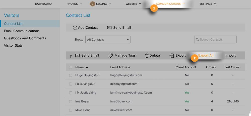 Contact List Export