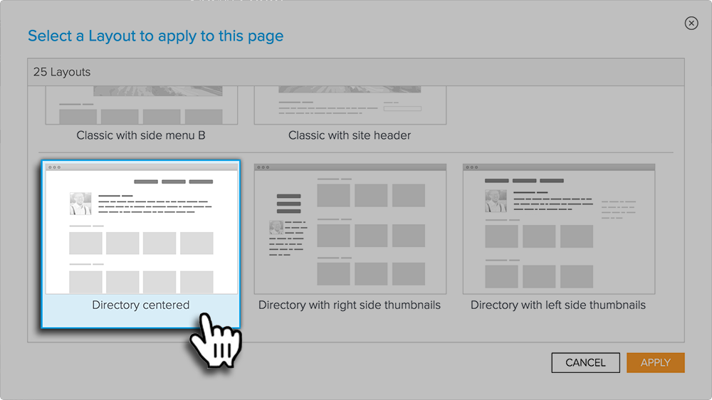 Directory Centered Layout