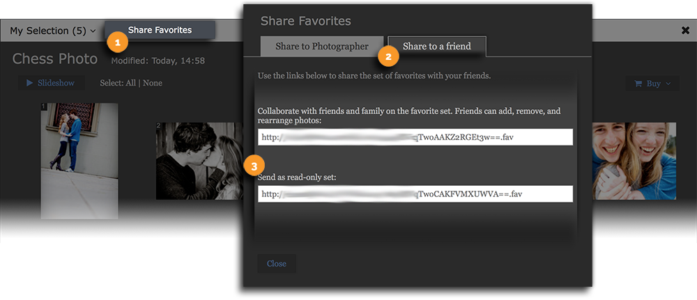Share Favorites List with Others