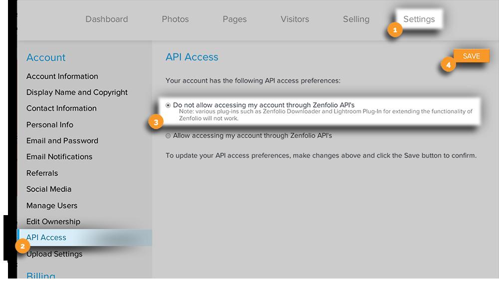 API Access New Edit View