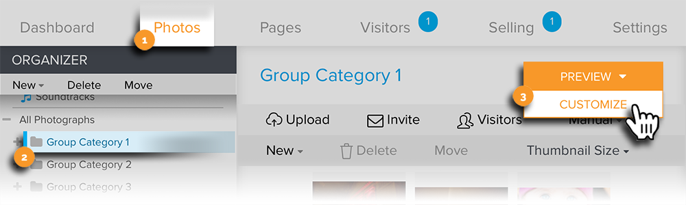 Group to Customize Visitor View