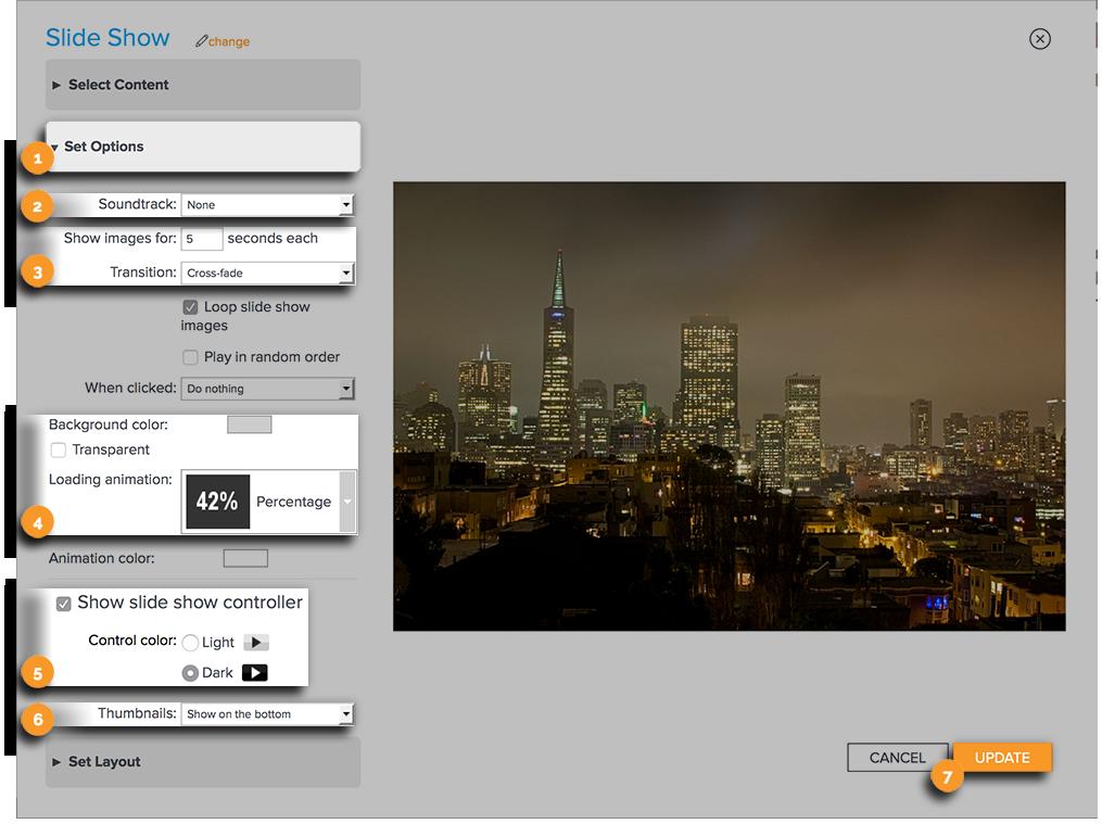 Spotlight Content Set Options New Edit View