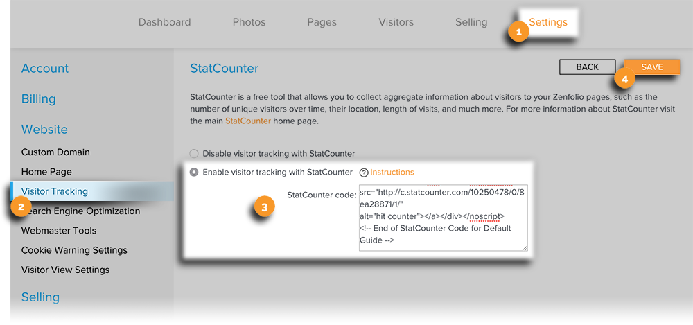 Visitor Tracking Statcounter New Edit View